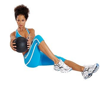 medicine ball russian twist abs core training women for Yun Fitness Bootcamp and Kya's Krusade